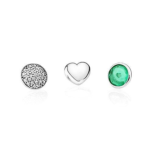 Pandora–parure di gioielli in argento 925con zirconia, colore: verde–792091nrg