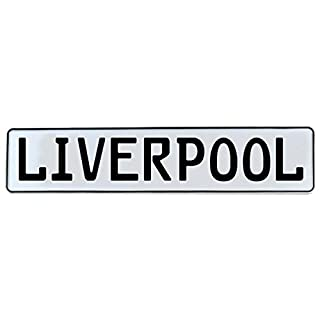 Vintage Parts 682080 Liverpool White Stamped Aluminum Street Sign Mancave Wall Art