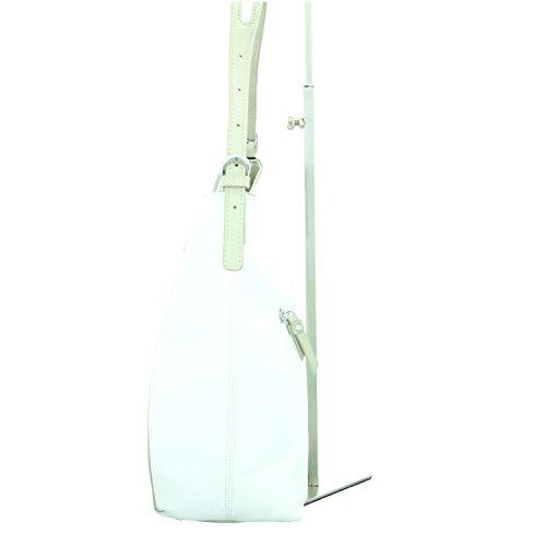 Gabor Damen Verona Schultertasche, 29 x 11 x 32 cm Weiß