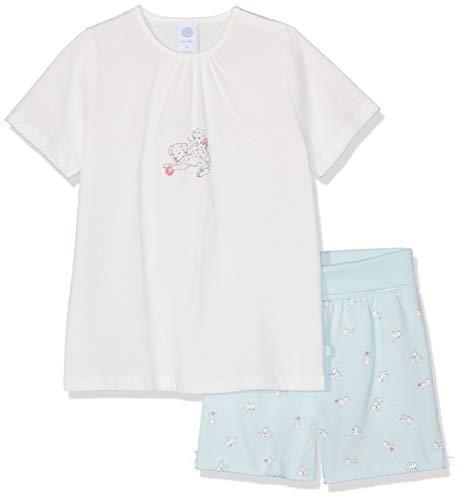 Sanetta Baby-Mädchen Pyjama Short Zweiteiliger Schlafanzug, Beige (Broken White 1427), 92 - Mädchen Lacrosse Shorts