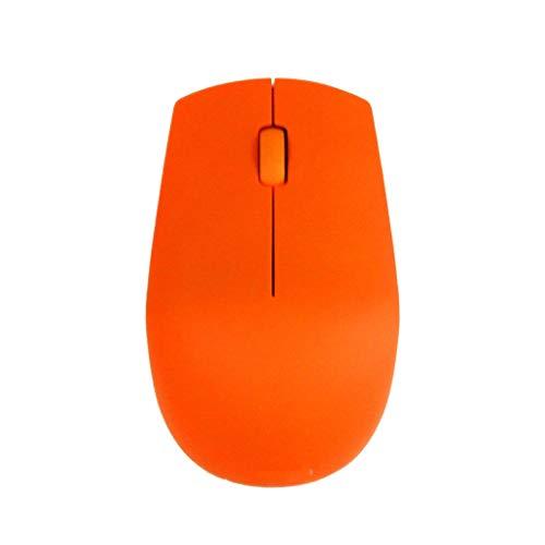 XXW Maus N500 kabellose Maus Notebook Desktop Home Office Maus Tragbare Energiesparende DREI Farbe Optional Optische MausMaus (Color : Orange)