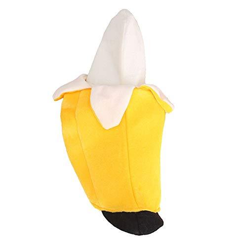 Für Hunde Kostüm Bananen - koiry Haustier Hund Katze Kostüm Haustier Anzug Banane Stil Kleidung Halloween Weihnachten Lustig Bekleidung - Gelb, Medium