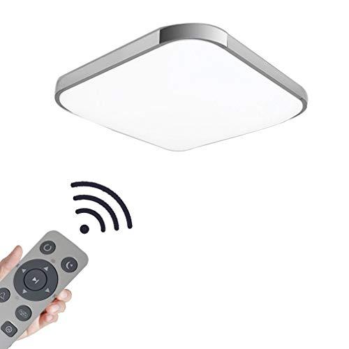 Coosnug led lampada da soffitto 24w dimmerabile ultraslim led plafoniera moderna camera da letto cucina corridoio lampada soggiorno (argento dimmerabile 3000-6500k)