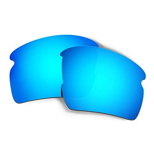 HKUCO Mens Replacement Lenses For Oakley Flak 2.0 XL Sunglasses Blue Polarized