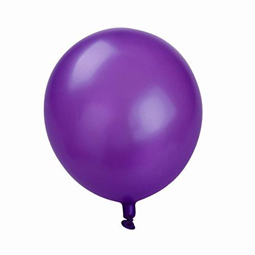 *NUOLUX Ballons en latex, ballons blancs Violet de 10 pouces pour les fournitures de fête, 50pcs, 3 couleurs Meilleure offre de prix