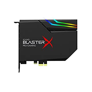 Sound BlasterX AE-5 Hi-Resolution PCIe Gaming Soundcard, DAC/Headphone amp (up to 600 OHM) with RGB-LED lighting strip for Computer / Gaming PC