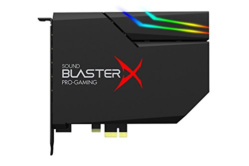 Sound BlasterX AE-5 Hi-Resolution PCIe Gaming Soundkarte, DAC/Kopfhörerverstärker (bis 600 OHM) mit RGB-LED Streifen für Computer/Gaming PC