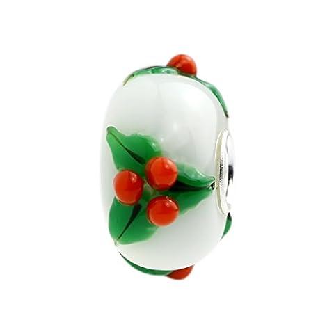 Hunter merry christmas-perles en verre de murano-argent 925/1000 compatible avec pandora, & similaires bracelets - 3
