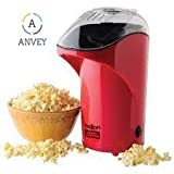 Best Hot Air Poppers - Anvey Red Hot Air Popcorn Maker Popper Popping Review