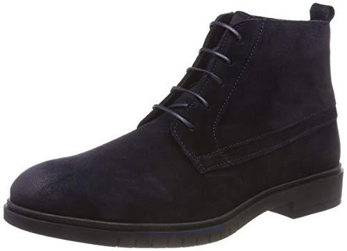 Tommy Hilfiger Herren Flexible Dressy Suede Desert Boots, Blau (Midnight 403), 43 EU