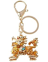 Banggood ELECTROPRIME Opal Crystal Kylin Keychain Keyring Bag Charm Key Ring Pendant Golden Yellow