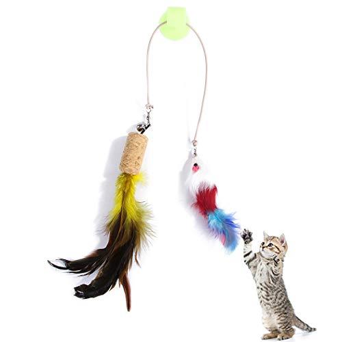 ielzeug Katzenspielzeug Kätzchen Spielzeug Haustier Vorräte Katze Teaser Mit Saugnapf ()