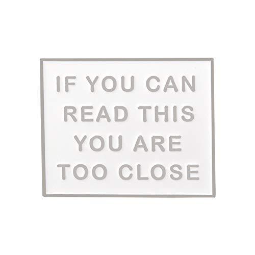 JTXZD Brosche Brauche Meinen persönlichen Raum! Funny Anti Social Letter Slogan Persönlichkeit Emaille Broschen Anstecknadeln Für Cool Girl Boy