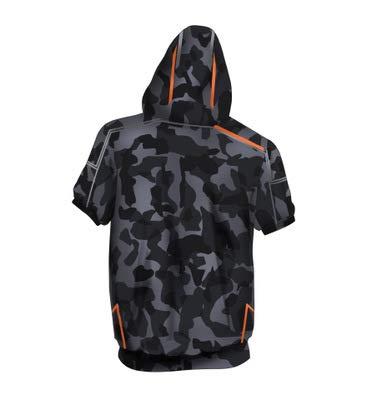 SHITT BOY Mit Kapuze, Die Rächer Ironman T-Shirt Tony Kurzarm Kapuzenpullover 3D Kurzarm Sweatshirt A-XL (Hoodie Man Iron Boys)