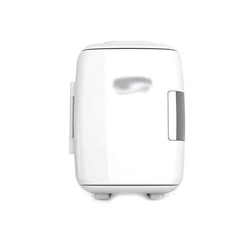 Alltag zu Hause 4L Mini-Auto/zu Hause Kleiner Kühlschrank kleines Zuhause Einzel-Tür-Kühlung Mikro-Studentenwohnheim Zwei-Welt-Kühlschrank (Farbe: Weiß) -