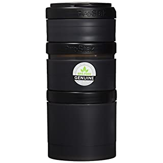 BlenderBottle ProStak Expansion Pak -  3 Pak Container (250ml, 150ml und 100ml) inklusive 1. Pillenfach - schwarz