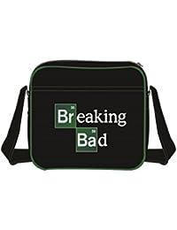 Breaking Bad Symbol Logo oficial nuevo Negro Leather Bolsa de viaje