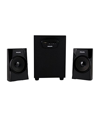 Philips MMS-1400 2.1 Channel Multimedia Speakers System (Black)
