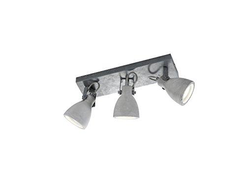 Trio Leuchten Balken Concrete 802500378, Metall, Schirm Beton, 3 x GU10