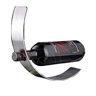 ASC Stainless Steel Curved Metal WINE RACK/HOLDER New Contemporary Design