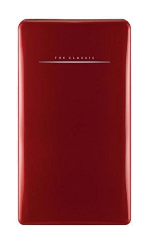 bkitchen cool 120 rt Retro Kühlschrank, 120L, A++, rot Kühlgerät Standgerät, Gemüsefach + 1Stern Eisfach