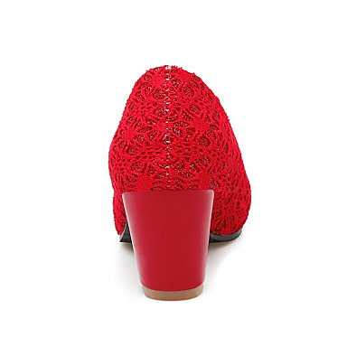 LYNXL Talloni delle donne Primavera Estate Autunno tacco grosso Casual Sfilata di moda invernale Altro Tulle ufficio & carriera Altri Nero Rosso Beige Black