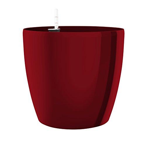 Emsa Pot de fleurs, système d'arrosage automatique, Ø 25cm, Rouge rubis, Casa brillant, 517565