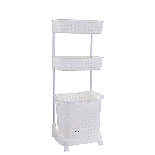 Große tragbare Wäschekorb Kleidung Sortierer Wäschekorb Aufbewahrungsbox kann für Kleideraufbewahrung Körbe Kleidung Haus und Bad verwendet werden white