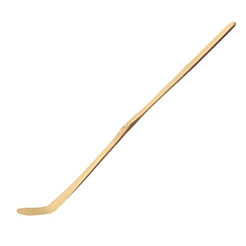 FutuHome Matcha Löffel Messlöffel Dosierlöffel Teeschaufeln Bambus Löffel aus Holz, 17.5x3x3cm - Weiß