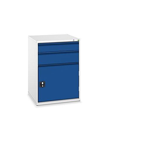 bott verso+ Schubladenschrank mit 2 Schubladen und 1 Tür, 650 x 650 x 900 mm, 1 Stück, 40034028.11