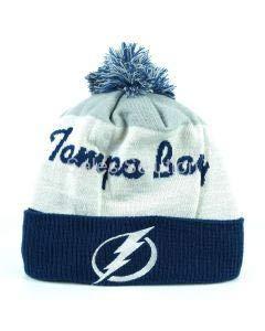 Reebok NHL Cuff Pom Winter Hat Tampa Bay Lightning, Größe:Unisize
