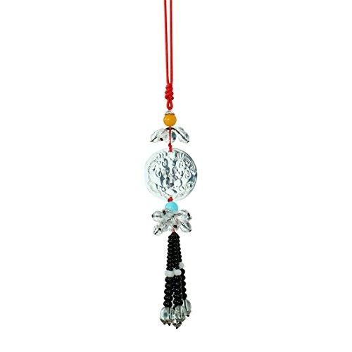 Drei Juwelen (Jainismus)-The Home of Faith Drei Juwelen (Jainismus) Feng Shui Kristall Auto/Wand aufhängen für Schutz | Fenster/Wand aufhängen Geschenk Artikel