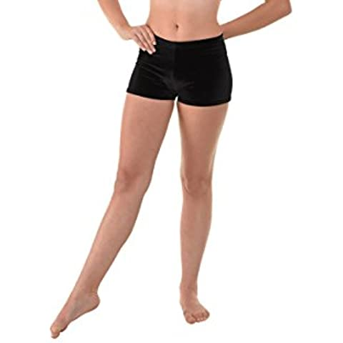 Micro Hipster Shorts Hot Pants Smooth Velvet Gymnastics Dance Freestyle