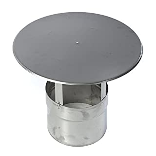 Stainless Steel Chimney Cover ✓ Weather-Resistant ✓ Permit Free ✓ Easy to Mount | Rain Cover, Chimney Cover, Protects from Rain, Wind and Birds | Stainless Steel Chimney Cover for Smoke Pipes, Chimney Pipes