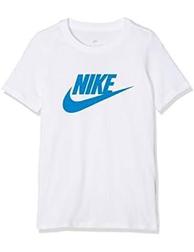 Nike Futura Icon Camiseta, Niño, White/Blue Nebula, FR : XL (Taille Fabricant : XL)