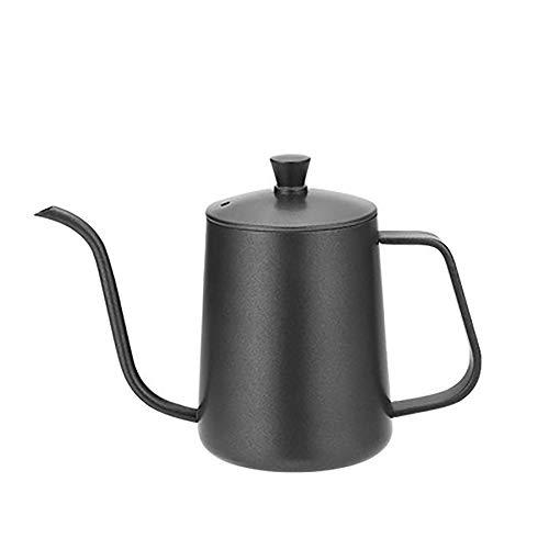 MYD888 Edelstahl Hand Kaffee Topf Teflon Long Mouth Thin Mund Dosen-Pot Kaffee Kaffee-Filter Hand Drip Coffee Pot mit Deckel Kettle 600ML