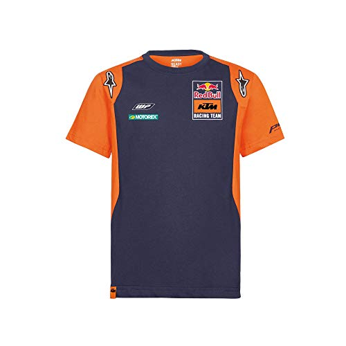 Red Bull KTM Official Teamline T Shirt, Blu Bambina 152 Maglietta, KTM Factory Racing Abbigliamento & Merchandising Uff