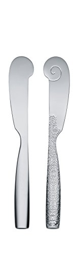Alessi MW03/37 Dressed Buttermesser 6 Stück aus Edelstahl glänzend poliert