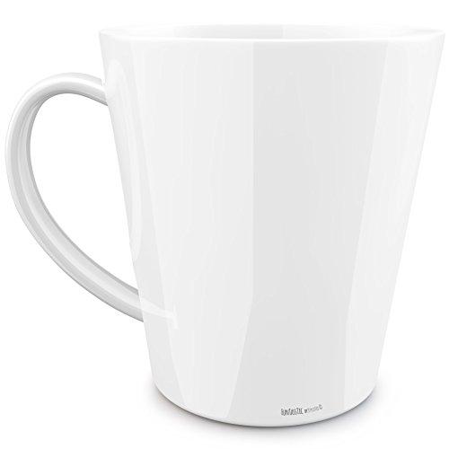 FunTasstic Tasse Beste Oma (geschwungen) konische Tasse Kaffeepott 350 ml by StyloTex ®
