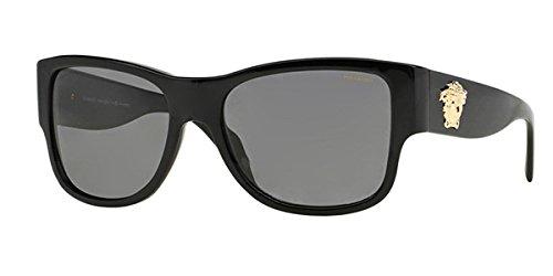 Versace-Mens-4275-Black-FrameGrey-Polarized-Lens-Plastic-Sunglasses-58mm