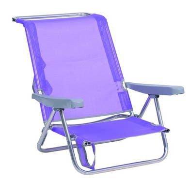 Alco 604 alf-0127 Chaise plage Fibreline, lilas, 79 x 65.5 x 26 cm