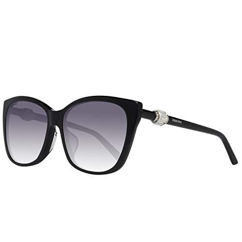 Swarovski sunglasses sk0129-f 5901b, occhiali da sole donna, nero (schwarz), 59