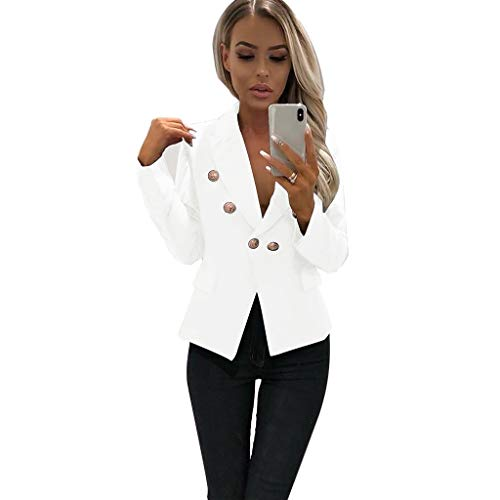 (i-uend 2019 Damen Mantel - Kurze Strickjacke mit offener Vorderseite und Arbeitsjacke Cardigan für/Herbst/Frühling)