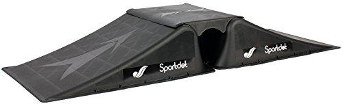 Doppelrampe (2 Rampen + 1 Mittelteil) für Skateboard/BMX/Skater/RC Cars