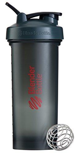Blender Bottle Pro45 Protein Shaker/Wasserflasche/Sportflasche (1300 ml Fassungsvermögen, skaliert bis 1000ml) Grau/Rot