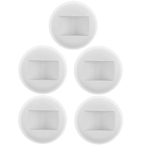 B Baosity 3D schwimmende Schmuck Display Rahmen Fall Box Münzen Ständer Rack Halter - Weiß Runde Basis