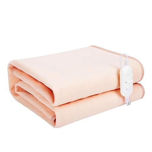 Heizdecke Einzelbett - 150x120 cm - Heizdecke Plüschtemperatur einstellbar Winter Dicker Heizung Thermostat Heizung