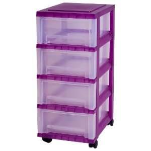 tours de rangement quatre tiroirs tour de rangement sur roulettes violet colonne de rangement. Black Bedroom Furniture Sets. Home Design Ideas