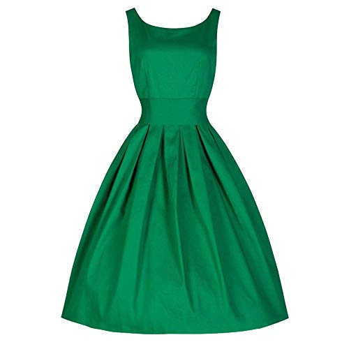 b Reisen Vintage Style Frauen 50er Jahre Swing Retro Hausfrau Party Maskerade Bar Dance Slim Rockabilly Abendkleid Rock ()