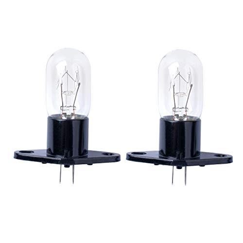 Poweka Mikrowellenbirne, 25W 240V Mikrowellen Garraum Lampe für Bosch, LG, Panasonic, Siemens Mikrowellenherd 2pc